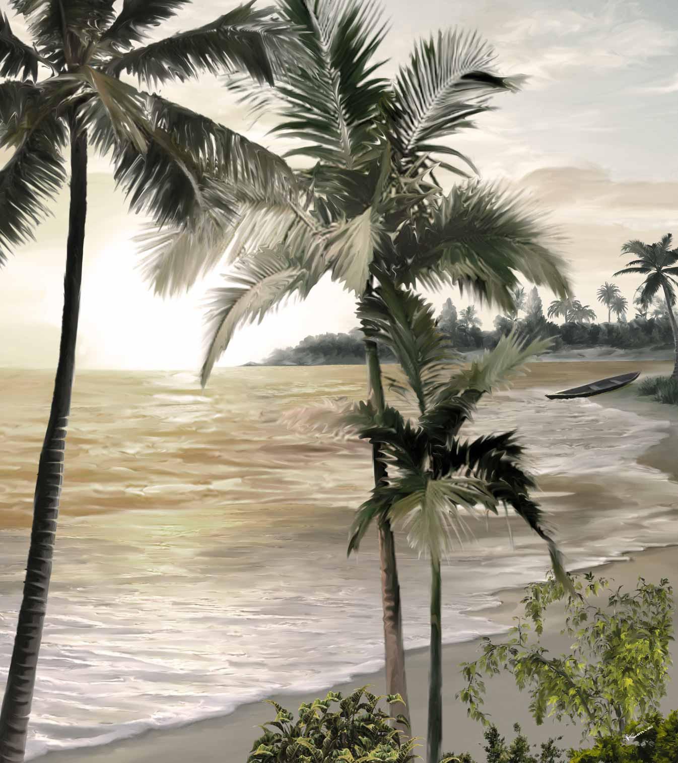 Sur la plage de l'Île aux Nattes