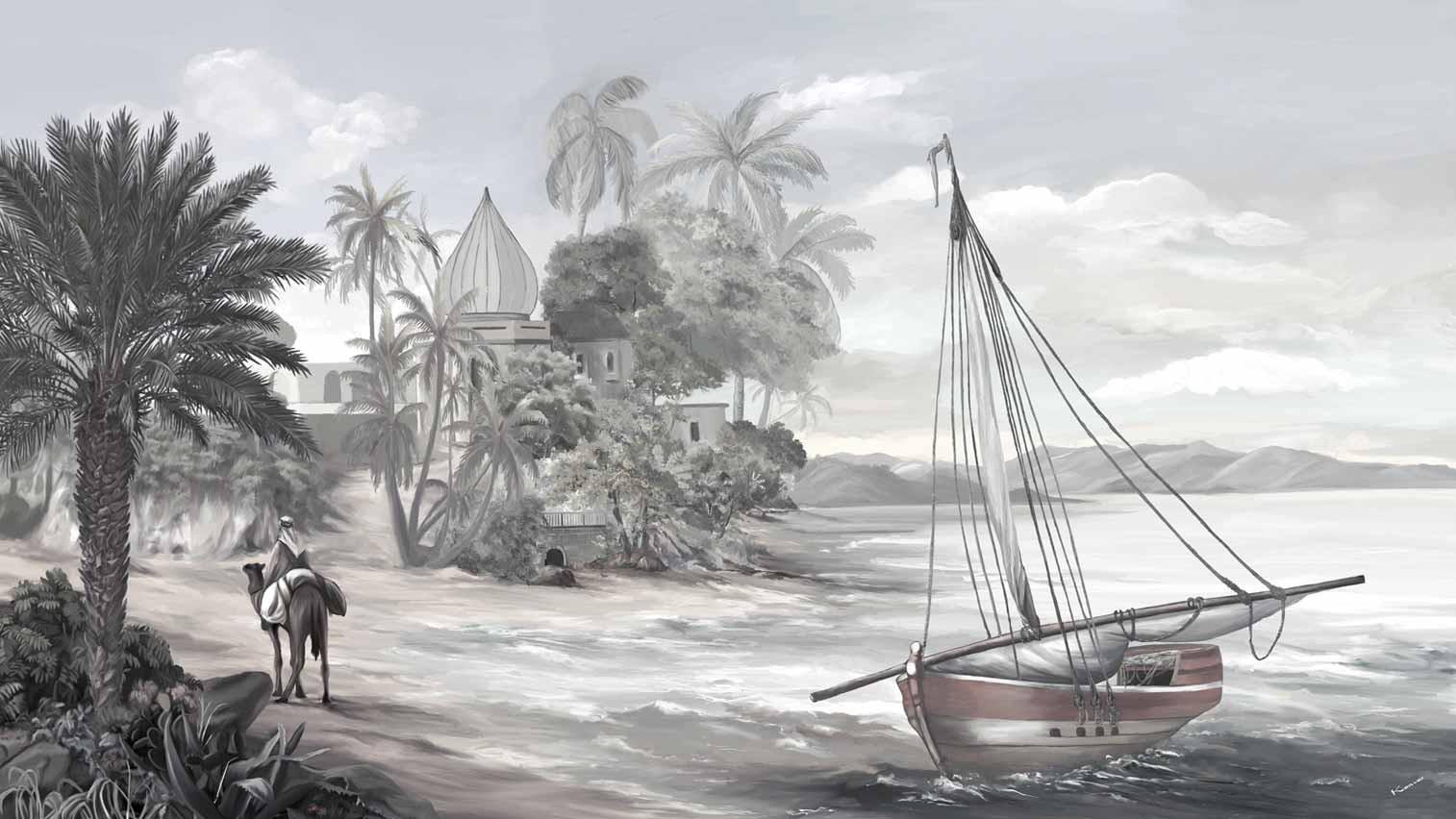 Mosquet et bateau