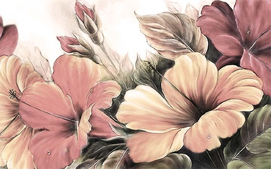 Fleurs d'hibiscus Vintage